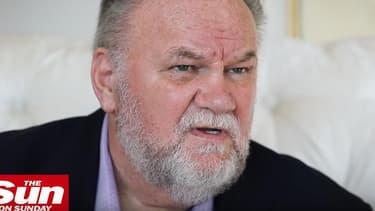 Thomas Markle, le père de Meghan Markle, dans une interview vidéo au Sun, publiée sur YouTube le 15 juillet 2018.