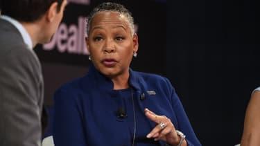 Lisa Borders, PDG de Times-Up  lors d'une conférence en novembre 2018 à New York.