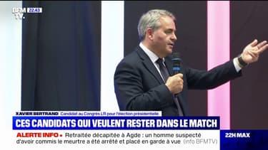 """Xavier Bertrand: """"La famille politique qui est l'héritière du général de Gaulle, de Jacques Chirac et de Nicolas Sarkozy, je ne la laisserai pas disparaître"""""""