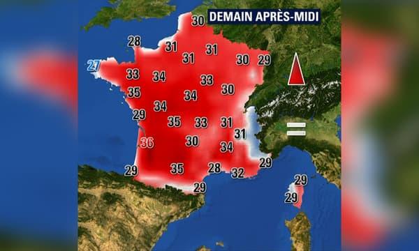 Les températures s'annoncent chaude pour samedi 24 août.