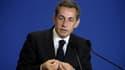 Nicolas Sarkozy le 17 janvier 2015 au siège de l'UMP à Paris.