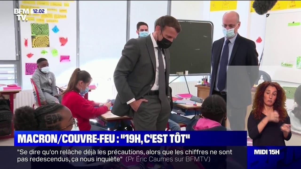 """""""19h, c'est tôt"""": la petite phrase d'Emmanuel Macron à une élève concernant l'heure du couvre-feu"""