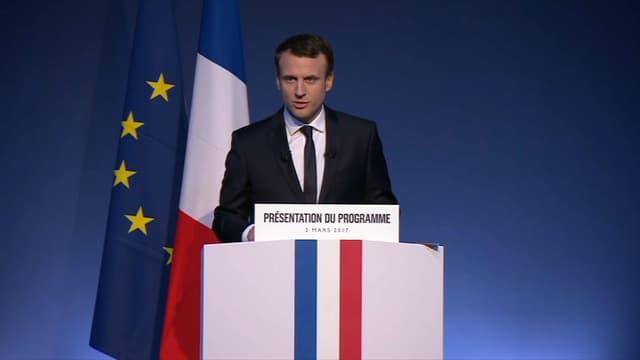 Emmanuel Macron défend une transformation du bac avec quatre épreuves seulement et du contrôle continu.