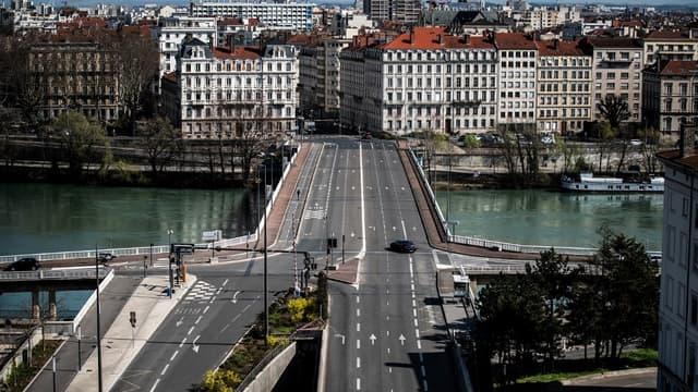 La ville de Lyon désertée pendant le confinement.