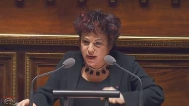 La sénatrice écologiste Esther Benbassa à l'origine de la proposition de loi.