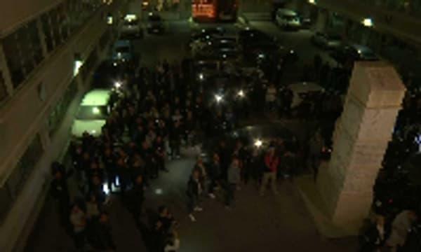 A Marseille, quelque 200 policiers sont venus soutenir leurs collègues convoqués.