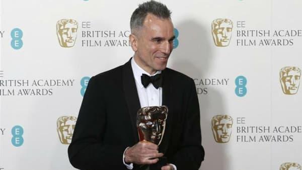 """L'acteur Daniel Day-Lewis remporté le Bafta britannique du meilleur acteur pour le rôle-titre du film """"Lincoln"""" du réalisateur Steven Spielberg, le 10 février 2013"""