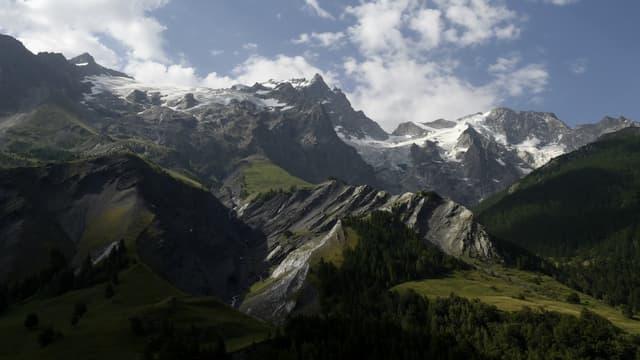 La Meije, dans le Parc national des Ecrins, non loin du Mont Pelvoux, dans les Hautes-Alpes.