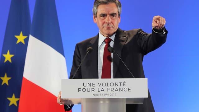 François Fillon à Nice, lundi