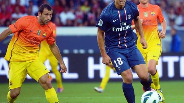 Zlatan Ibrahimovic face au Barça
