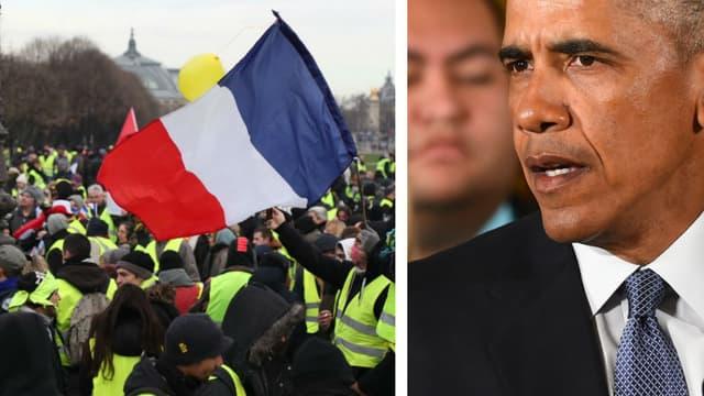 Des gilets jaunes citoyens ont demandé vendredi une rencontre avec l'ancien président des Etats-Unis Barack Obama.