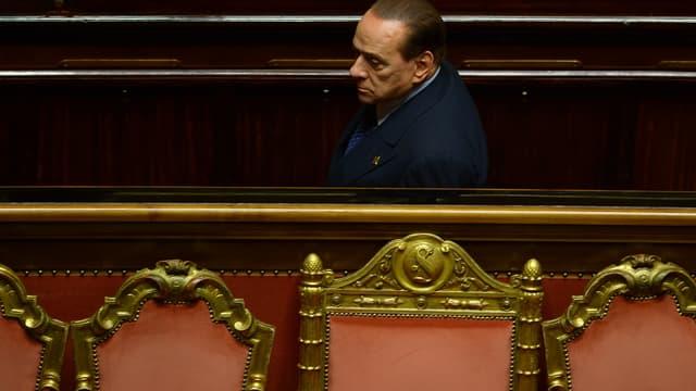 Sylvio Berlusconi au Sénat, le 2 octobre.