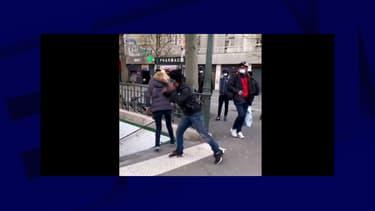 L'agression qui s'est déroulée porte de Chapelle