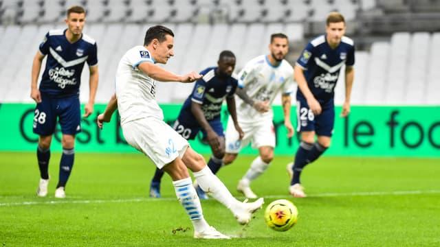 Florian Thauvin lors du match Marseille-Bordeaux, au Vélodrome le 16 octobre 2020