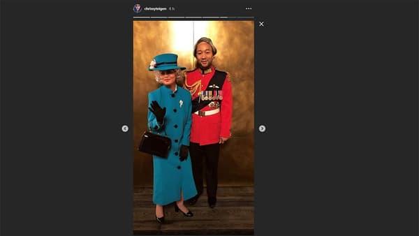 Chrissy Teigen et John Legend à Halloween.