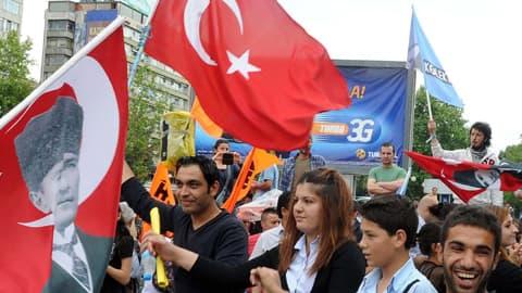 Des manifestants turcs le 9 juin à Ankara