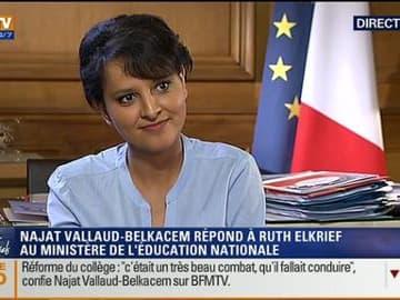Najat Vallaud-Belkacem face à Ruth Elkrief (1/2)