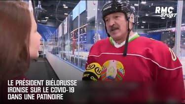 Le président biélorusse ironise sur le Covid-19 dans une patinoire
