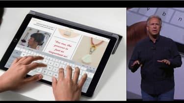 Apple a présenté l'iPad Pro, une tablette dotée d'un écran de 12,9 pouces (32,77 cm) de diagonale, présentée comme étant presque aussi puissante qu'un PC portable.