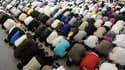 Musulmans en train de prier à la Grande mosquée de Strasbourg. (Illustration)