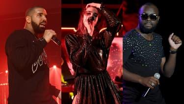 Drake, Dua Lipa et Maître Gims