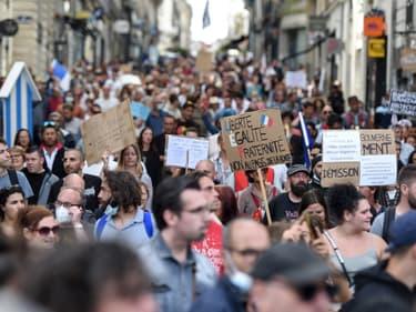 Manifestation anti-pass sanitaire à Nantes le 18 septembre 2021