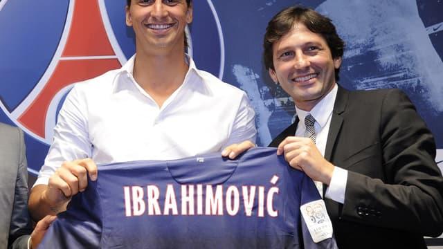 Ibrahimovic et Leonardo en 2012