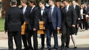 Les funérailles de l'étudiant américain Otto Warmbier, le 21 juin 2017 à Wyoming, dans l'Ohio