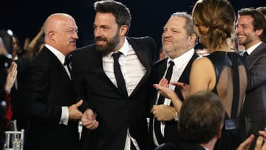 Ben Affleck et Harvey Weinstein aux Critics Choice Movie Awards à Santa Monica en 2013