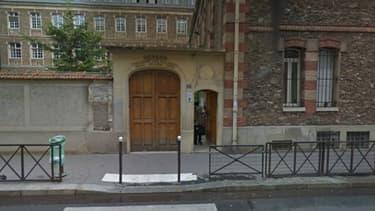 L'entrée du collège-lycée privé Gerson situé dans le 16e arrondissement de Paris