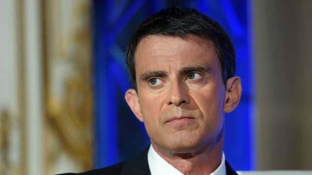Manuel Valls lors de sa conférence de presse du 9 mai.