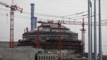 L'EPR de Flamanville en construction, le 6 novembre 2014.