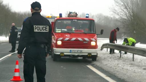 Accident de la route sur le rocade de Cambrai, le 26 décembre 2010