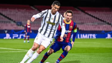 Cristiano Ronaldo (Juve) et Lionel Messi (Barça)
