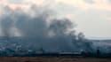 De la fumée s'élève dans le ciel après un raid israélien sur Gaza, ce 17 juillet.