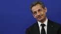 """Nicolas Sarkozy lors d'une visite à Nice, le 10 mars dernier. La tribune de l'ancien président dans """"Le Figaro"""" a entraîné une escalade verbale entre l'UMP et le gouvernement."""