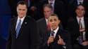 Obama et Romney lors de leur deuxième débat, le 16 octobre