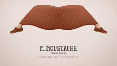 M. Moustache, un tout petit annonceur pour un Grand Prix.
