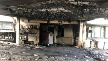 L'incendie a eu lieu très tôt ce lundi matin à l'Amphitryon à Colomiers (Haute-Garonne) -