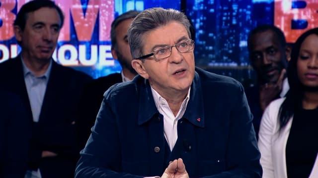Jean-Luc Mélenchon sur BFMTV, le 12 février.