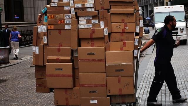 Quel que soit le nombre de colis, Délivreurs facture 5,99 euros par livraison effectuée sur le pas de porte du client (image d'illustration).