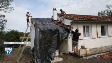 Les orages ont causé d'importants dégâts en Charente, notamment à Saint-Sornin