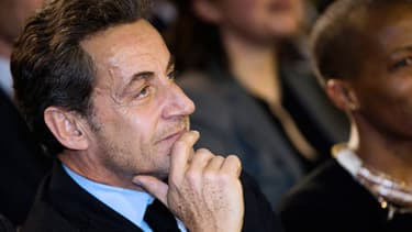 L'ancien président Nicolas Sarkozy venu assister lundi soir au meeting de Nathalie Kosciusko-Morizet
