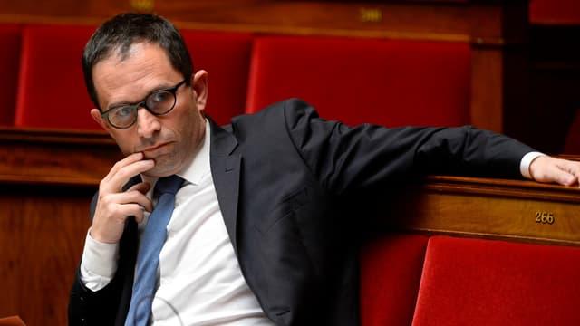 Benoît Hamon à l'Assemblée lors d'un débat le 4 mai 2016.