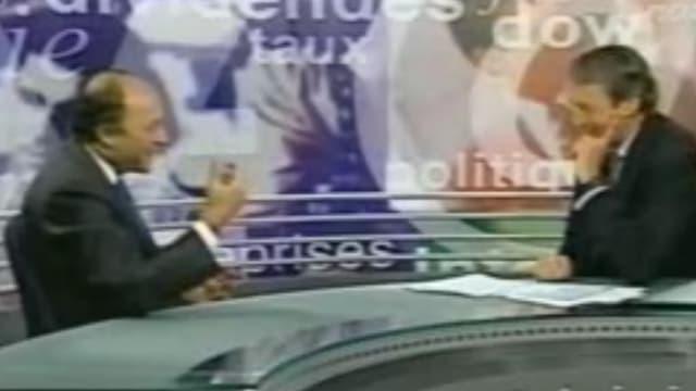 Laurent Fabius, invité d'un talk-show américain, le 16 juin 2000.