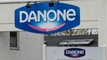 L'entrée de l'usine Danone à Bailleul, dans le Nord, le 23 novembre 2020