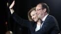 Valérie Trierweiler et François Hollande le soir de l'élection.