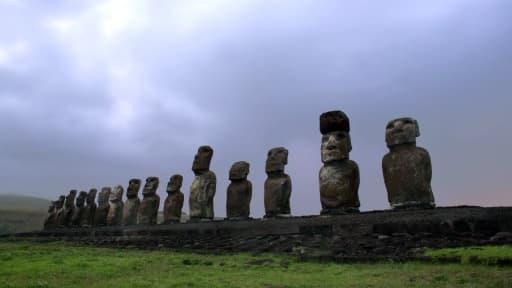 Des Moaï de l'île de Pâques - Image d'illustration