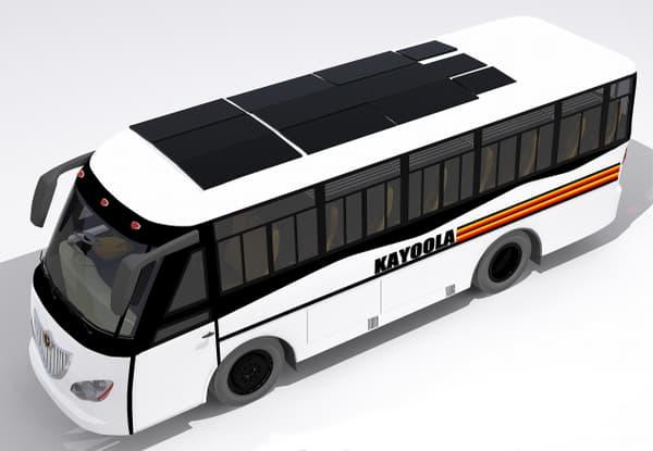 Modélisation du toit du bus solaire Kayoola