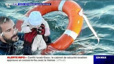 Ceuta/migrants : un bébé sauvé des eaux